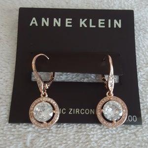 New Anne Klein Crystal Drop Earrings